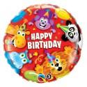 "Balon foliowy 18"",  ""Happy Birthday Party Animals"""