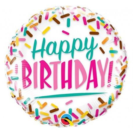 "Balon foliowy 18"", ""Birthday Sprinkles"""