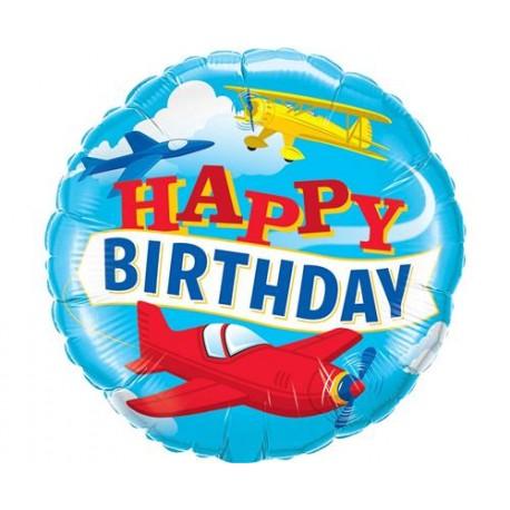"""Balon foliowy 18"""", """"Urodzinowe Samoloty"""""""