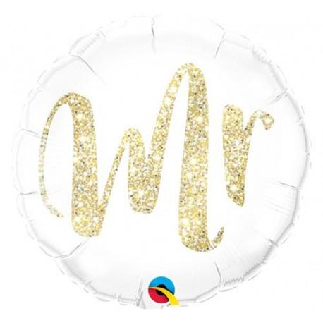 """Balon foliowy 18"""", """"MR złoty"""""""
