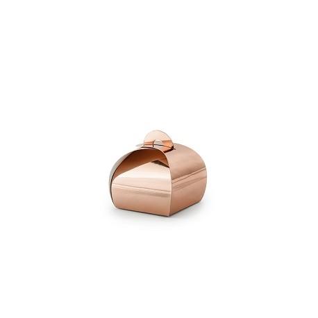 Pudełeczka, różowe złoto, 6x6x5,5cm (1 op. / 10 szt.)
