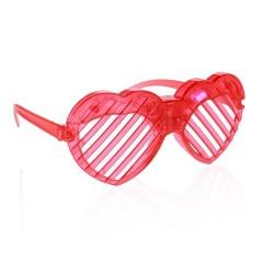 """Okulary świecące """"Serca"""", żaluzje, czerwone"""