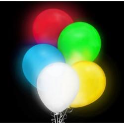 Balony świecące, LED, kolorowe, 5 szt