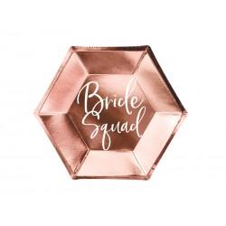 Talerzyki Bride squad, różowe złoto, 23cm