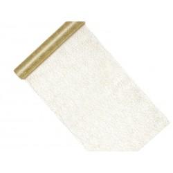 Siatka dekoracyjna - Fibra, złoty, 0,36x9m