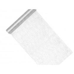 Siatka dekoracyjna - Fibra, srebrny, 0,36x9m