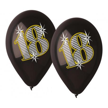 """Balony gumowe 18, czarne, 12"""" / 5 szt."""