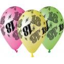 Balony gumowe 18, fluor mix, 30cm / 5 szt.