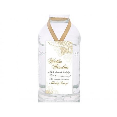 Zawieszki na wódkę, biały i złoty