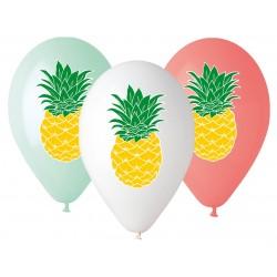 Balony gumowe Ananas, 33cm/ 5 szt.