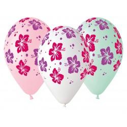 Balony gumowe Kwiaty, 33cm/ 5 szt.