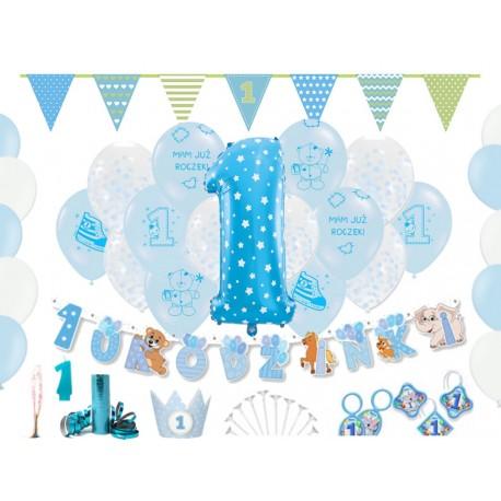 Dekoracje na ROCZEK pierwsze urodziny chłopca