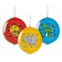 Balony Zwierzęta, piłki z gumką, 3 szt.