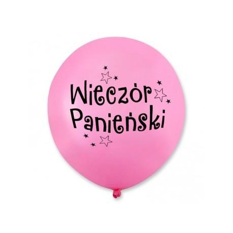 Balon Wieczór Panieński / różowy, czarny nadruk