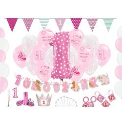 Dekoracje na ROCZEK pierwsze urodziny dziewczynki