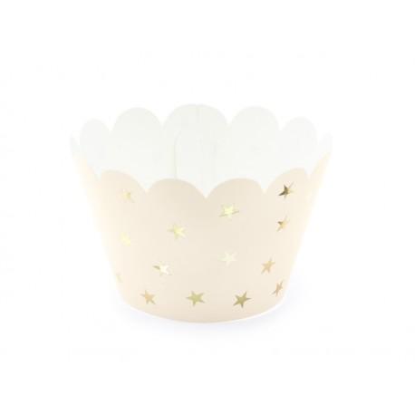 Papilotki na muffinki, jasno brzoskwiniowy (1 op. / 6 szt.)