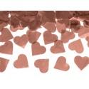 Tuba z sercami, różowe złoto, 60cm