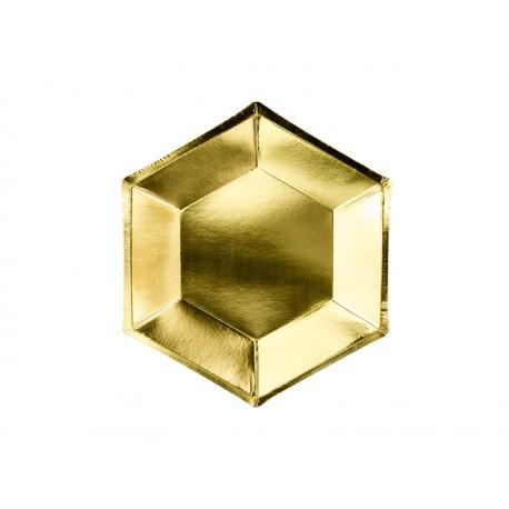 Talerzyki Bride to be, złoty, 20 cm (1 op. / 6 szt.)