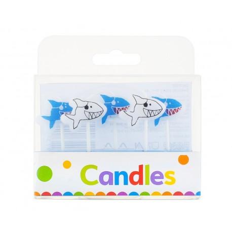 Świeczki pikery Rekinki