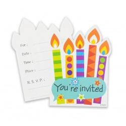 Zaproszenia Kolorowy bal, 6 zaproszeń + 6 koper