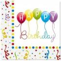 """Serwetki """"Happy Birthday Baloniki"""", 33 cm,20 szt"""