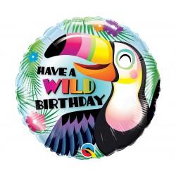"Balon foliowy 18"" HAVE A WILD BIRTHDAY"