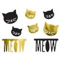 Dekoracje papierowe - Kotek, mix (1 op. / 8 szt.)