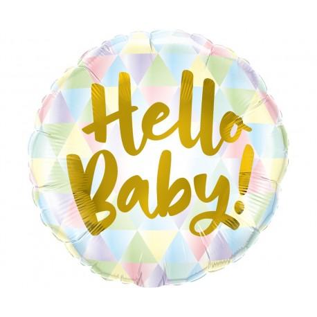 Balon foliowy 18 cali QL, Hello Baby