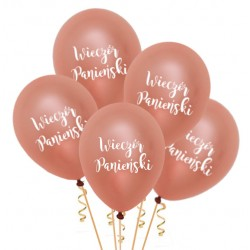 Balony Wieczór Panieński rose gold 5szt