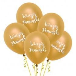 Balony Wieczór Panieński złoty 5szt
