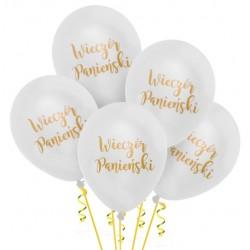 Balony Wieczór Panieński biały 5szt