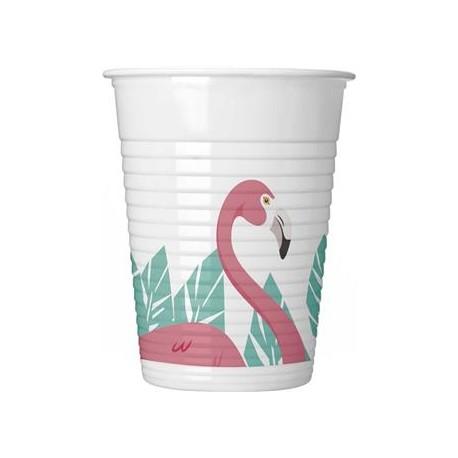 "Kubeczki plastikowe ""Flamingo"", 200 ml, 8 szt."