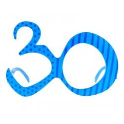 Okulary 30 urodziny, niebieskie