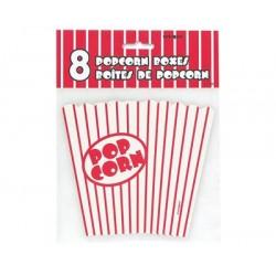 Papierowe pudełka na popcorn, 8 szt.