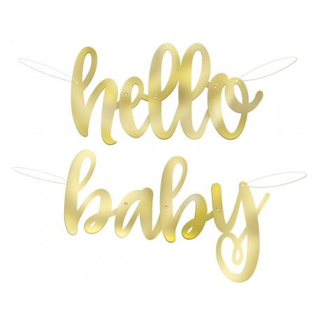 Banner Hello Baby złoty rozm. 104 cm