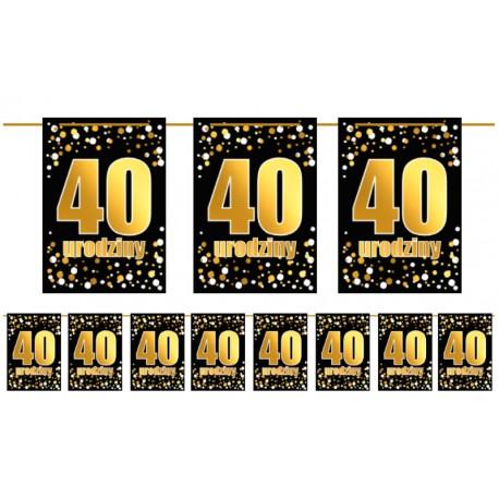 Girlanda 40 urodziny