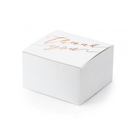 Pudełeczka Thank you , biały 6x3,5x5,5cm