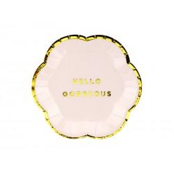 Talerz Yummy - Hello Gorgeous , jasny różowy, 13cm