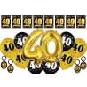 Dekoracje na 40 urodziny M