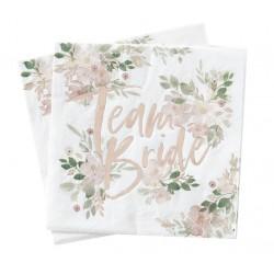 Team Bride serwetki floral w kwiatki 16szt