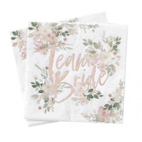 Team Bride serwetki w kwiatki 16szt