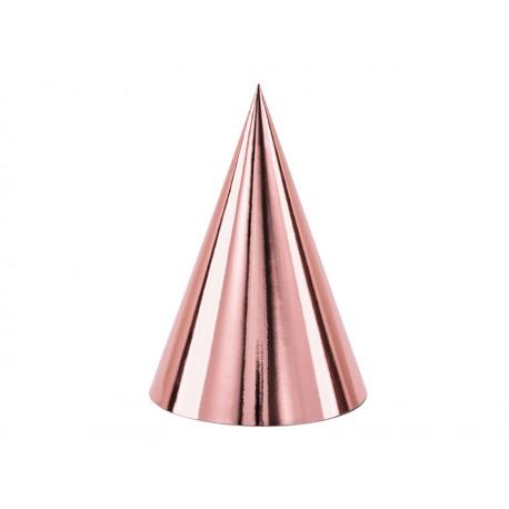 Czapeczki różowe złoto 10cm