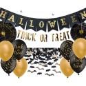 Dekoracje Halloween złoto i czerń