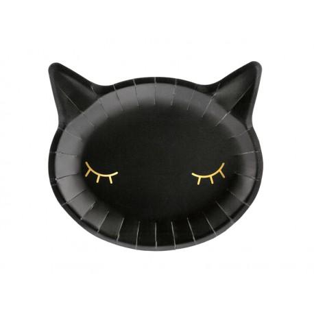 Talerzyki Kotek czarny 22x20cm