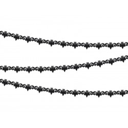 Girlanda bibułowa Nietoperze czarny 4m
