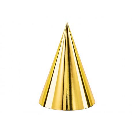 Czapeczki, złoty, 10cm