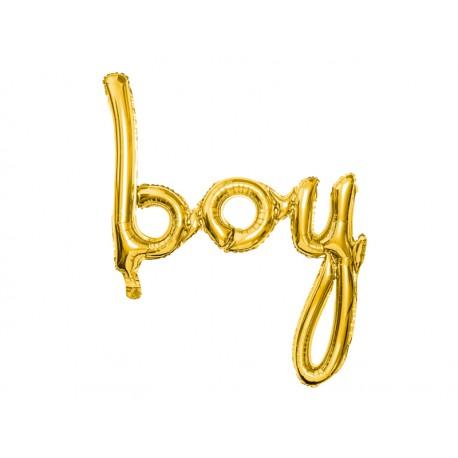 Balon foliowy Boy, złoty, 63,5x74cm