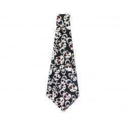 Krawat z białymi czaszkami