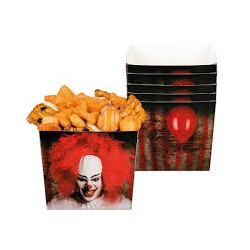 Miseczki papierowe Horror Clown, 400 ml, 6szt.
