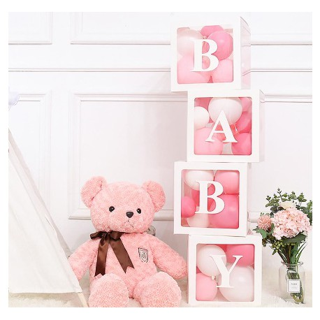 Pudełko box dekoracyjny BABY WHITE 30X30X30CM